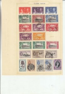 SIERRA LEONE  2 ALBUM PAGES OF MINT/USED VALUES/SETS