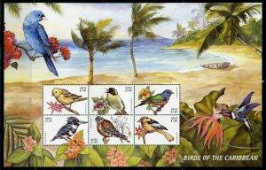 NEVIS BIRDS OF THE CARIBBEAN SHEET  MINT NH