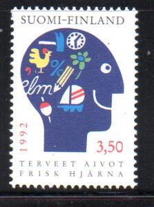 Finland Sc 883 1992 Healthy Brains stamp mint NH