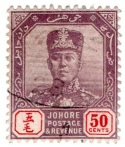 (I.B) Malaya States Revenue : Johore Duty 50c