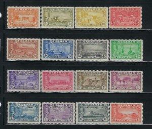 BAHAMAS SCOTT #132-47 1948 GEORGE VI COMPLETE SET- MINT EXTRA LIGHT HINGED