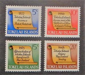 Tokelau Is. 16-19. 1969 5c-20c History, NH