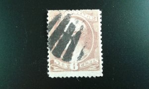 US #208 used fancy cancel trimmed e21.1 12769