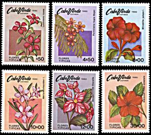 Cape Verde 416-421, MNH, Flowers