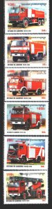 Cambodia. 2000. 2054-59. Fire equipment, cars. MNH.