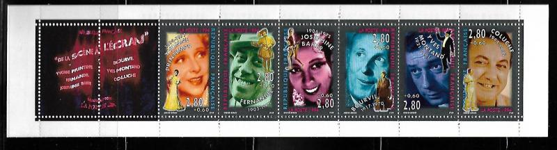 FRANCE B661a STAGE & SCREEN PERSONALITIES BOOKLET PANE
