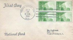 740 1c YOSEMITE NAT'L PARK - Unknown rubber stamp cachet