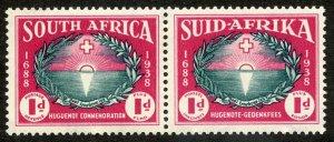 South Africa, Scott #B10, Unused, Hinged pair