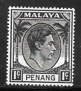 Malaya Penang 3: 1c George VI, MH, F-VF