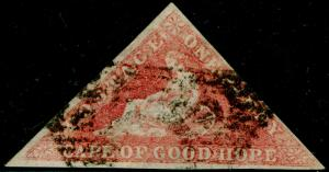 SOUTH AFRICA - Cape of Good Hope SG5a, 1d rose, USED. Cat £300.