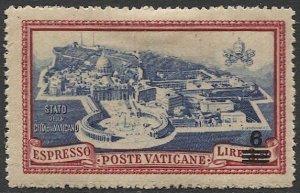 VATICAN CITY Italy 1945  Sc E7  MH F-VF 6L / 3.50L  Vatican City