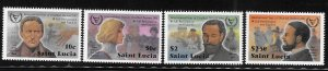 St Lucia 1981 Int'l year of disabled Sc 559-562 MNH A1785