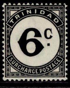 TRINIDAD & TOBAGO GVI SG D28, 6c black, M MINT. ORDINARY PAPER