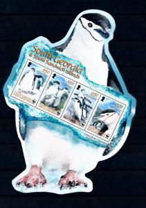 South Georgia MNH S/S Chinstrap Penguins WWF 2008