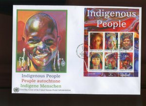 SET OF 3 United Nations 2009 INDIGENOUS PEOPLE JUMBO FDC'S NY, GENEVA, VIENNA