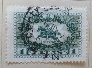 A11P5F59 Litauen Lituanie Lithuania 1927 Wmk Webbing 1l used