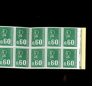 France SC# 1294a. 2 panes of 10 in Cpl. Booklet. Cat.130.00. Better Item-1