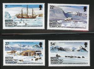 British Antarctic Territory (BAT) Scott 121-124 MNH** set