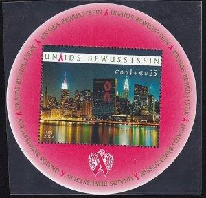 United Nations Vienna  #B1    MNH  2002  Aids awareness, circular sheet