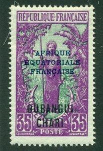 Ubangi-Shari 1924 #54 MH SCV (2018) = $0.70