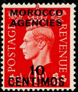 MOROCCO AGENCIES SG166, 10c on 1d scarlet, LH MINT.