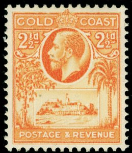 GOLD COAST SG107, 2½d orange-yellow, M MINT.