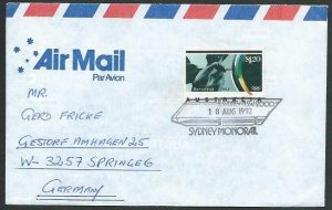 AUSTRALIA 1992 cover to Germany - nice franking - Sydney pictorial pmk.....12824