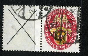 Zusammendrucke DR, Se-Tenant, 1929 Semi-Postal  Mi. W 36, VF ++ used
