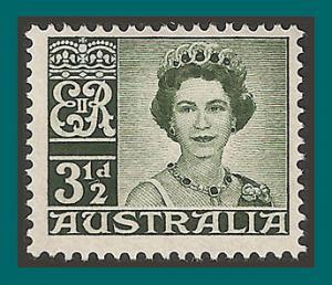 Australia 1959 Queen Elizabeth II, MNH 317,SG312