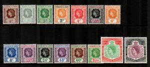 Leeward Islands #133-147  Mint  Scott $67.75