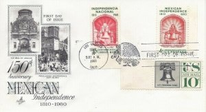 1157 MEXICAN INDEPENDENCE - Combo FDC