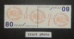 Netherlands 828-29. 1993 Notaries Assn. se-tenant pair, NH