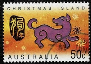 Christmas Island 2006 Year of the Dog Used