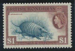 British Honduras SG 188 SC # 153 MVLH  perf 13½ Armadillo  see scan