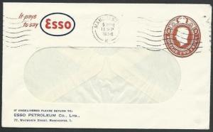 GB 1956 ESSO advert cover GVI 2d printed to private order used.............56074