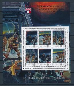 [81214] Nevis 2011 Second World war D-day British Airborne landings Sheet MNH