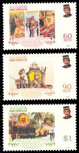 Brunei 1998 Scott #529-531 Mint Never Hinged