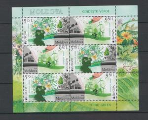 Moldova 2016 CEPT Europa Think Green Booklet
