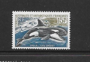 WHALES - FRENCH SOUTHERN  ANTARCTIC TERRITORY #27A  ORCA  MNH
