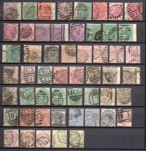 GB VICTORIA ALL DIFFERENT SURFACED PRINT USED STAMP selected stock value $2900