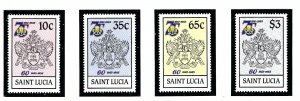 St Lucia 727-30 MNH 1985 Girl Guides (KA)