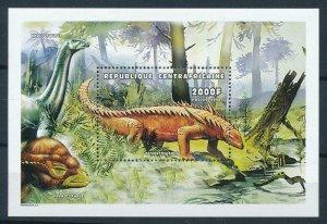 [106115] Central African Republic 1999 Prehistoric animals dinosaurs Sheet MNH