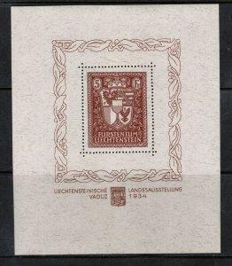 Liechtenstein #115 Extra Fine Never Hinged Souvenir Sheet