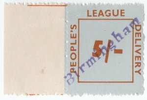 (I.B) Cinderella Collection : People's League 5/- (Birmingham)