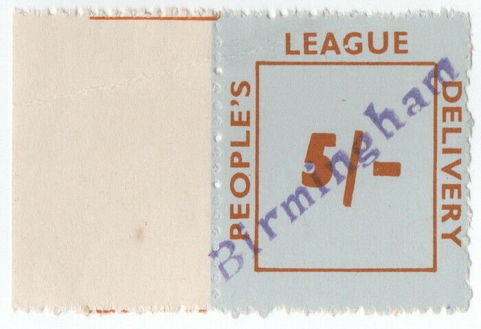 (I.B) Cinderella Collection : People's League 5/- (Birmingham)