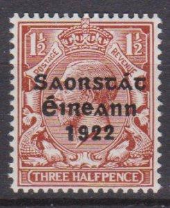 Ireland 1922 Scott 46 King George V MNH