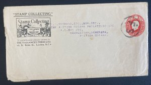 1900s England Stationery Wrapper Cover To Georgetown British Guiana Stamp Collec