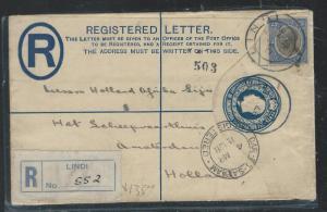 TANGANYIKA (P2609B)  KGV 30C RLE UPRATED 25C 1928 TO HOLLAND