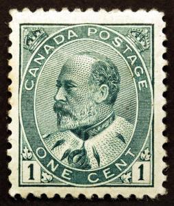 Canada #89 1c Green 1903 King Edward VII  VF *MLH* Fresh