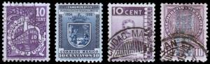 Mexico Scott 721, 722, 723, 728 (1935-36) Used/Mint H F-VF